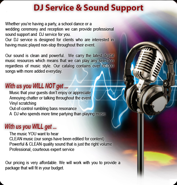 DJ Service and Sound Support
